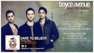 Boyce Avenue - Dare To Believe (Official Song & Lyrics) on Apple & Spotify