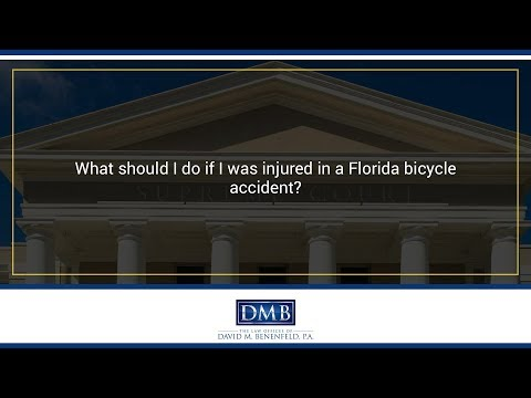What should I do if I was injured in a Florida bicycle accident?