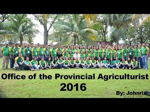 BOHOL PROVINCIAL AGRICULTURE 2016