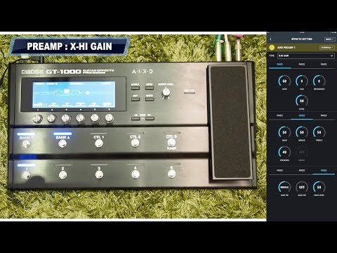 Unbox/QuickTest : BOSS - GT 1000 : ALL PREAMP and DIST FX DEMO by Peter Sow