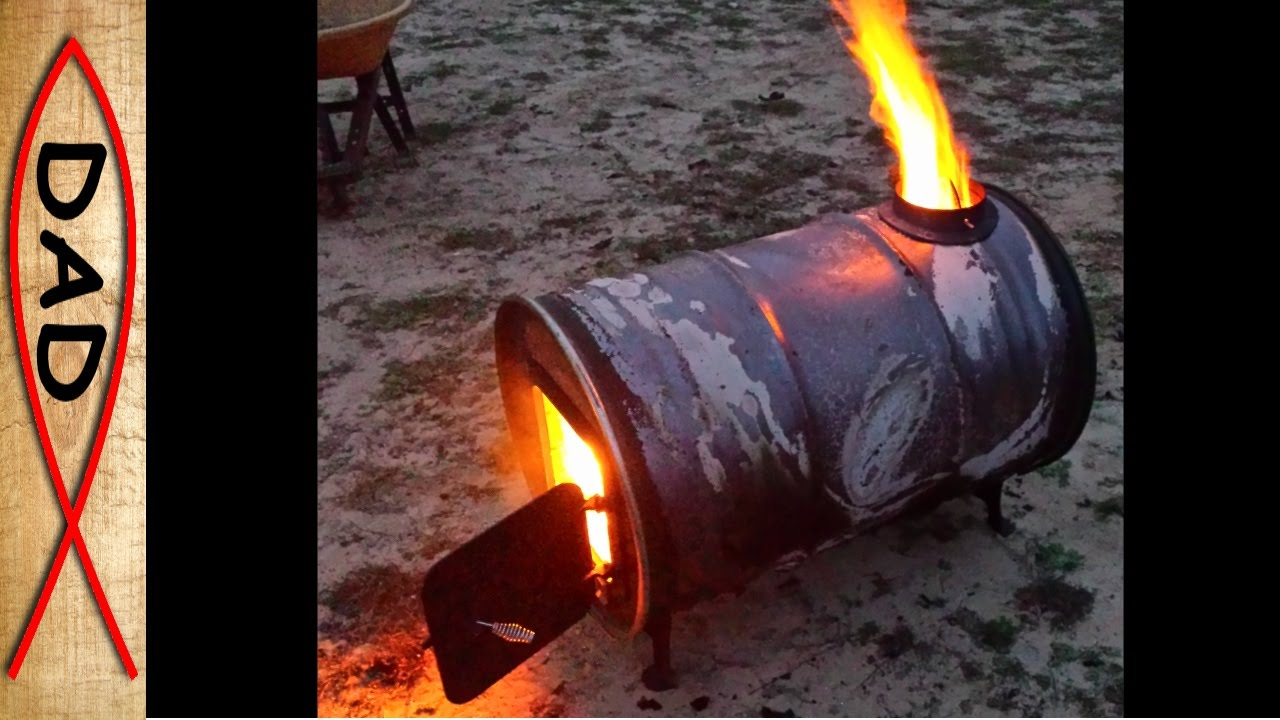 Flames from every hole - another barrel stove kit - Flames From Every Hole - Another Barrel Stove Kit - YouTube