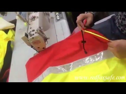 Reflective safety clothing stitching process