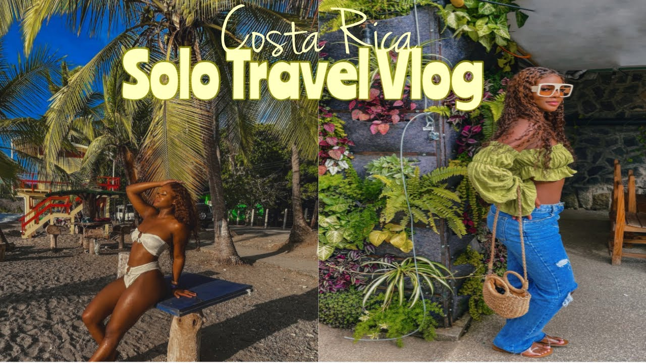Costa Rica Solo Travel Vlog 2021   San Jose + Jaco! Nightlife, Nauyaca falls, & much much more!