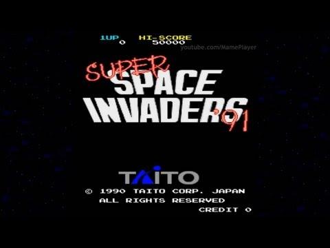 Super Space Invaders '91 1990 Taito Mame Retro Arcade Games