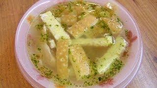Как сварить Куриный суп с яичными блинчиками для детей - видео рецепт(Видео рецепт приготовления супа на курином бульоне с яичными блинчиками в посуде Цептер (Zepter). Отлично подо..., 2011-11-11T15:46:55.000Z)