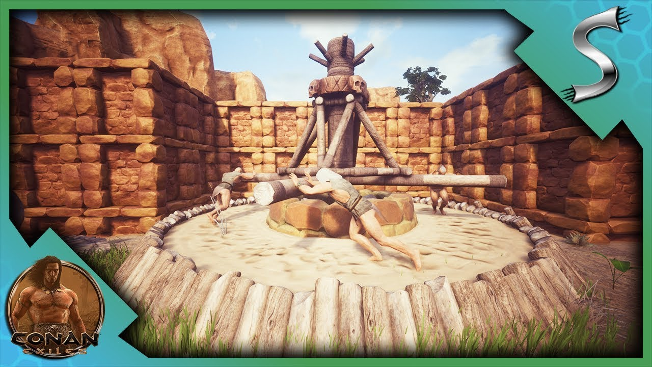 CAPTURING & ENSLAVING PEOPLE! EXPLORING THE THRALL SYSTEM! - Conan Exiles  [Full Release Gameplay E9]