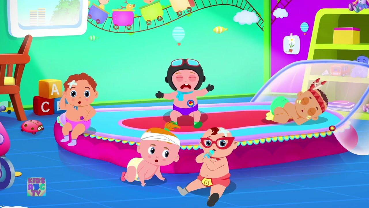 Five Little Babies Cartoon Videos For Kids Rhymes For Children