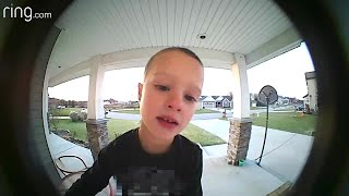 WATCH: Kid calls dad on Ring doorbell with question about TV
