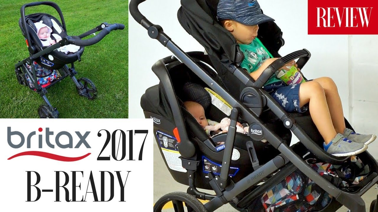 BRITAX 2017 B-READY STROLLER REVIEW | Double Stroller w ...