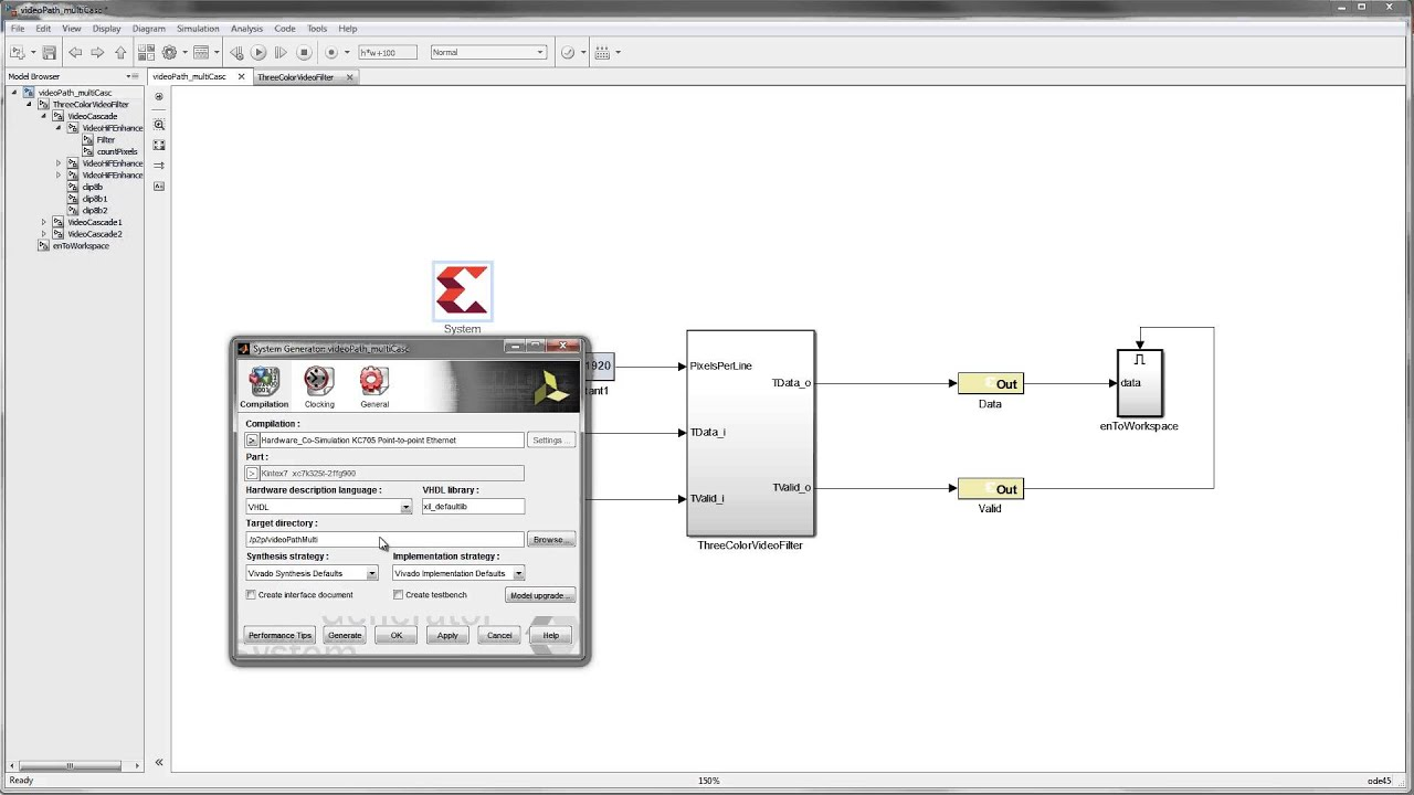 Using Hardware Co Simulation with Vivado System Generator for DSP