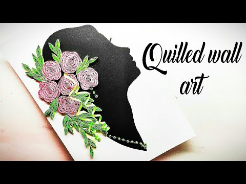 how to make quilling wall art   girl with garland of flowers on head   quilling designs