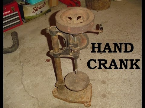 Old Hand Powered Drill Press