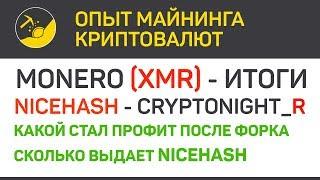 Monero (XMR) итоги форка и NiceHash (algo CN_R) | Выпуск 190 | Опыт майнинга криптовалют