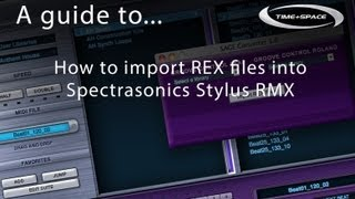How to import REX files into Spectrasonics Stylus RMX