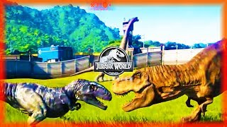 GIGANOTOSAURUS & SUCHOMIMUS GAMEPLAY REVEAL! Jurassic World Evoluti...