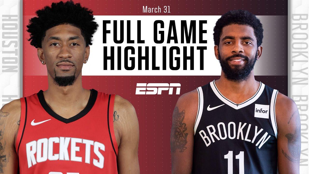Rockets vs. Nets - Game Recap - March 31, 2021 - ESPN