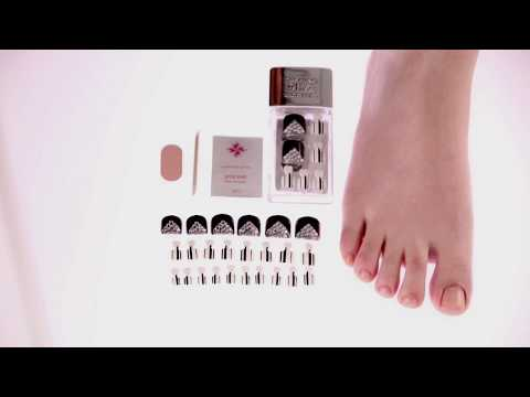 How To Apply Dashing Diva Magic Press Pedicure