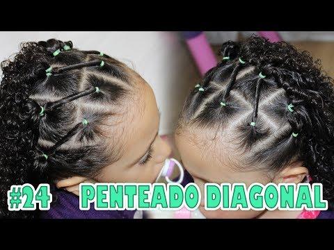Penteado Infantil Fácil Para Cacheadas Na Diagonal Cabelo