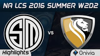 tsm vs apx highlights game 2 na lcs 2016 summer w2d2 team solo mid vs apex