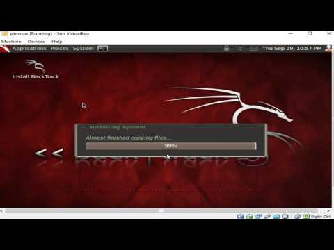 How to install backtrack  linux using VirtualBox