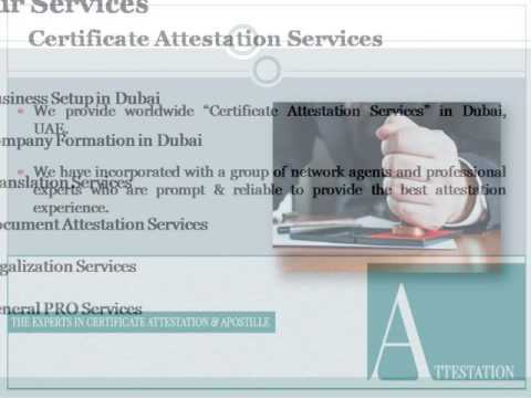 Certificate Attestation Services UAE