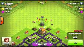 Clash of clans - fail attacks against simple town hall