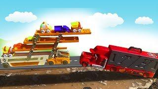 Машины для Детей- Молния Маккуин, Мак и Синий Трактор -Видео про машинки