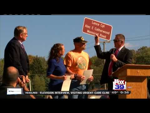 10/16/17 Dedication for Lance CPL. Catherwood Memorial WQRF