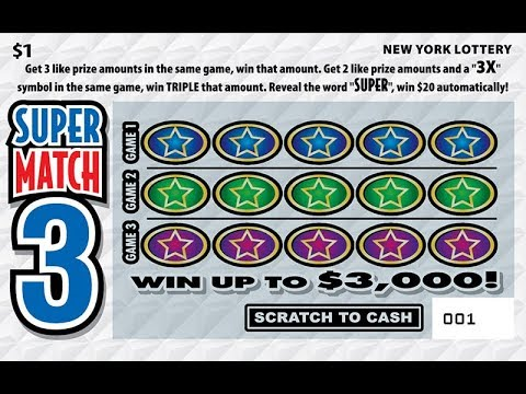 1 Super Match 3 New Win Lottery Bengal Scratch Off Instant
