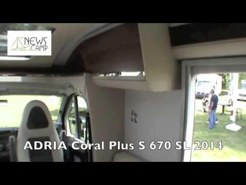 adria coral plus s 670 sl 2014 youtube. Black Bedroom Furniture Sets. Home Design Ideas