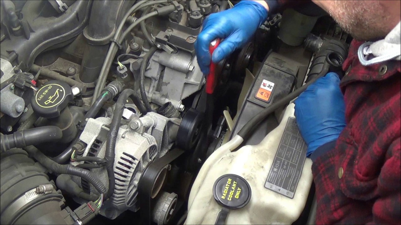 2008 Ford Explorer 4 0 overheating diagnosis and repair how to replace  thermostat and water pump