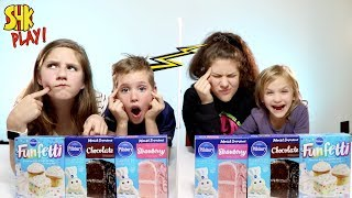 NOAH CHEATED AGAIN?! Twin Telepathy Cake Challenge