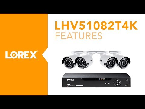 LHV51082T4K - 4K MPX Security Camera System from Lorex