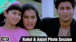 Rahul & Anjali photo session - Movie Scene - Kuch Kuch Hota Hai - Shahrukh Khan, Kajol, Salman Khan