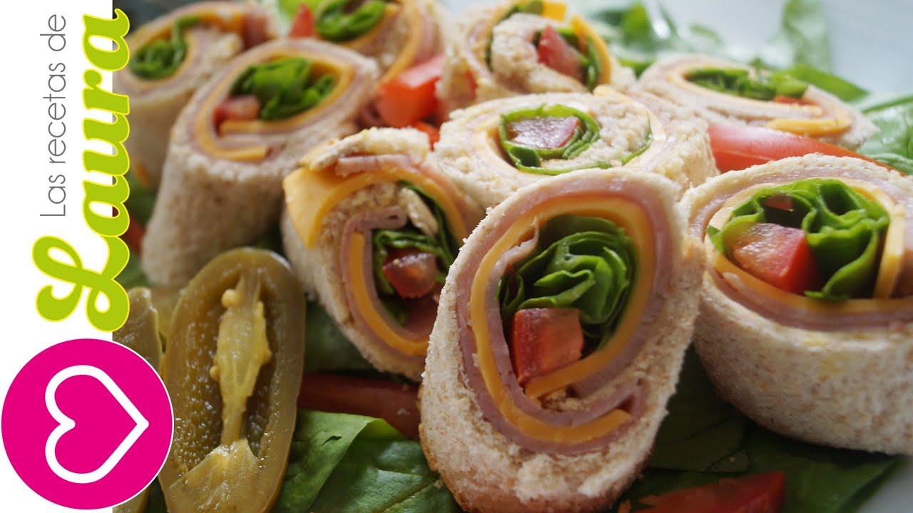 Sandwich de Rollito ♥ Botanas para el Mundial ♥ Sandwich
