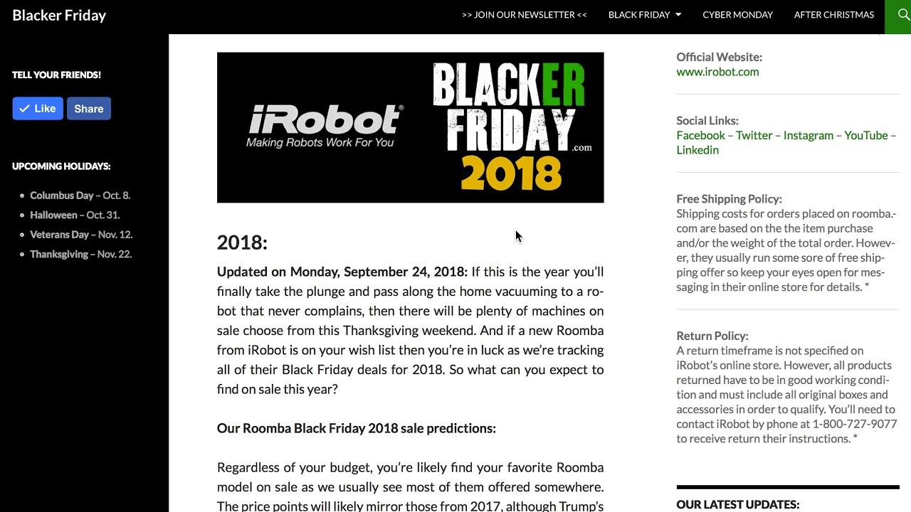 irobot roomba 980 black friday sale