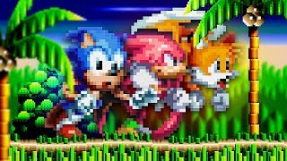 Knuckles' Chaotix in Sonic Mania!