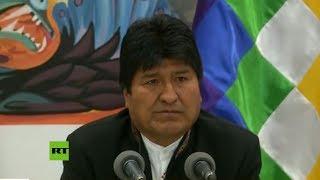 Video: Evo Morales denuncia un golpe de Estado en Bolivia