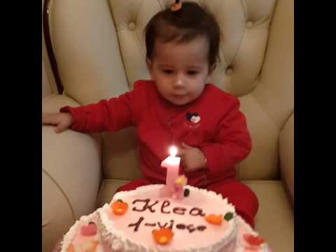 First birthday cake Funny little baby girl YouTube