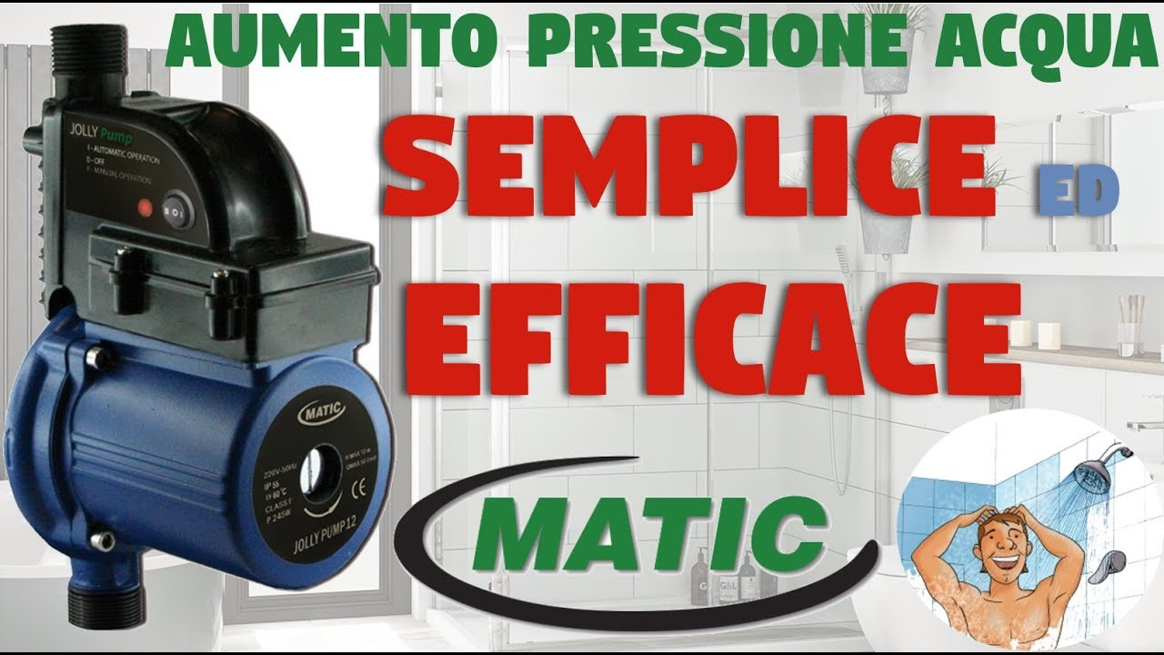 Matic Jolly Pump Pompa Per Aumento Pressione Acqua Domestica