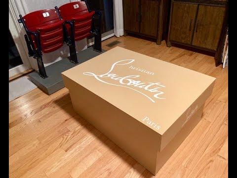 5055206a9e5 Giant Christian Louboutin Shoe Box - YouTube