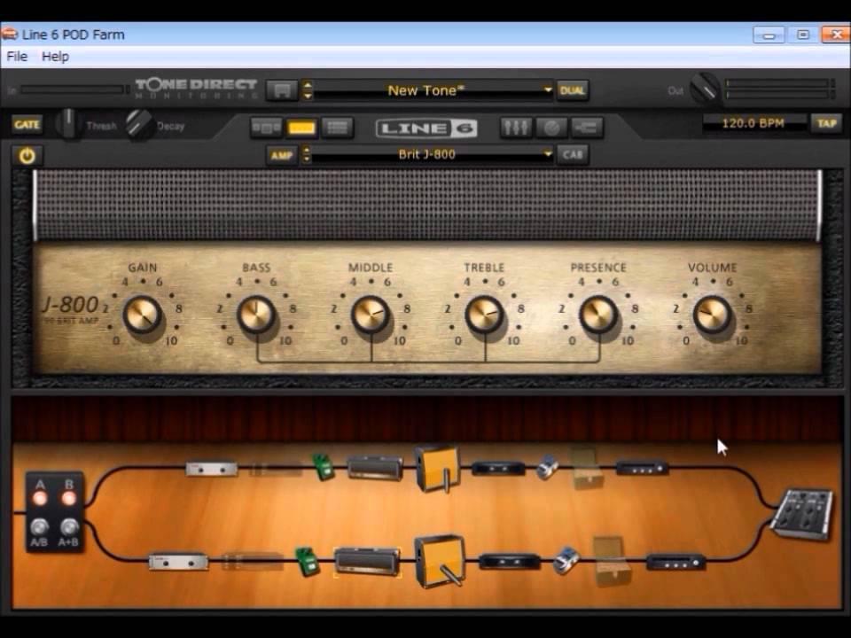 pod farm 2 5でギターを録音 youtube