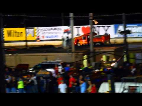 Lebanon Valley Speedway - Eve of Destruction 6/30/2015  Snow Plow Crashes into School Buses