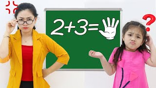 Annie and Sammy Good Vs Bad Student Learning at School Video for Kids