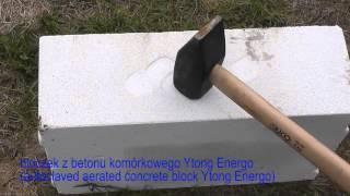 Wytrzymałość na uderzenia w bok pustaka ceramicznego i bloczka Ytong Energo.