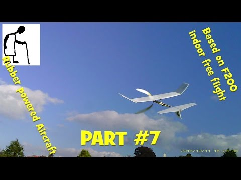 Rubber Powered Aircraft Based on F200 indoor free flight PART #7 In the Park