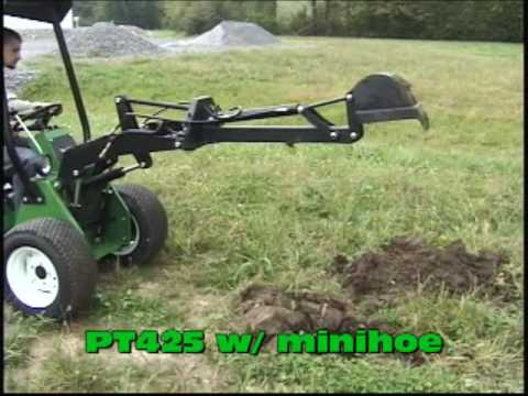 Power Trac PT425 With Minihoe Attachment