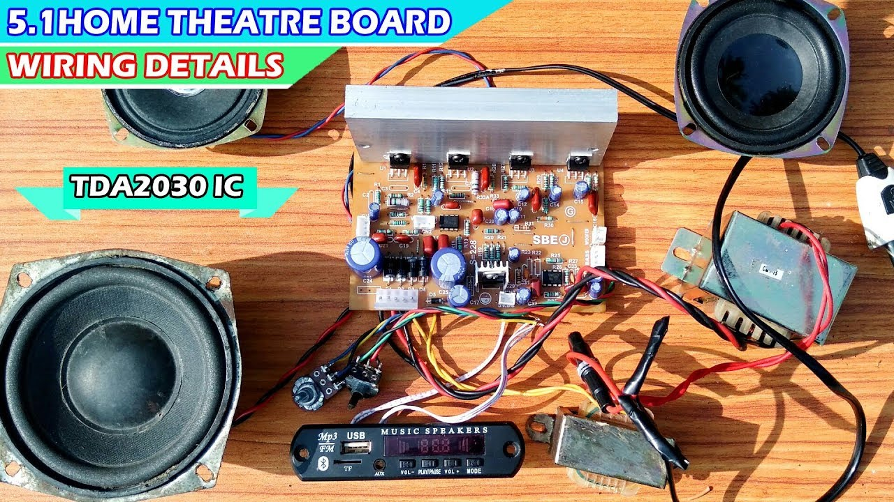 5 1 Home Theatre Board Wiring Details In Hindi From Technical Mriganka Youtube