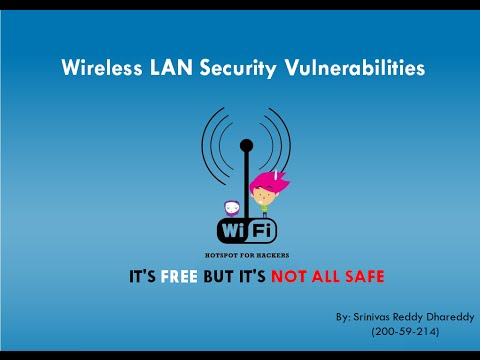 Wireless LAN Security Vulnerabilities