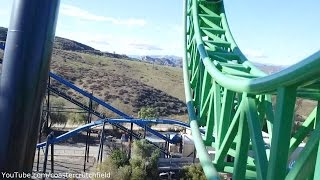 Green Lantern: First Flight (HD POV) Six Flags Magic Mountain